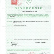 Naše osvedčenia, certifikáty